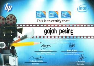 sertifikat intel